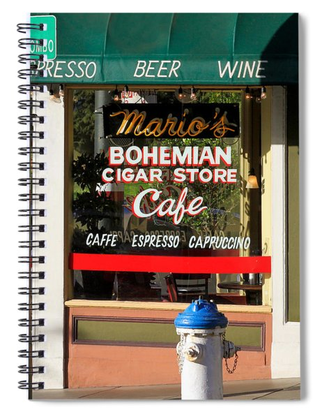 Mario's Bohemian Cigar Store Cafe Spiral Notebook