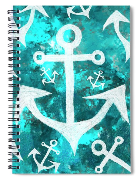 Maritime Anchor Art Spiral Notebook