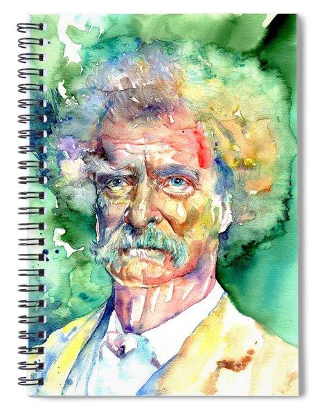 Mark Twain Watercolor Spiral Notebook