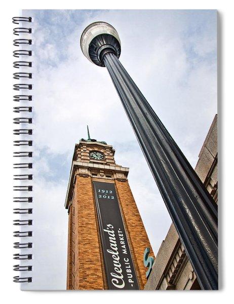 Market Clock Tower Spiral Notebook