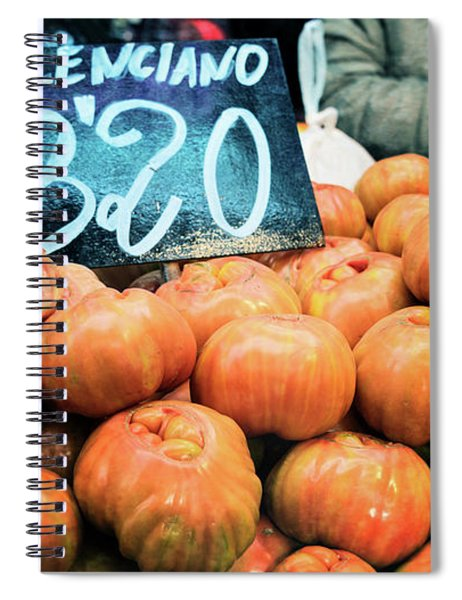 Market Tomatoes Spiral Notebook