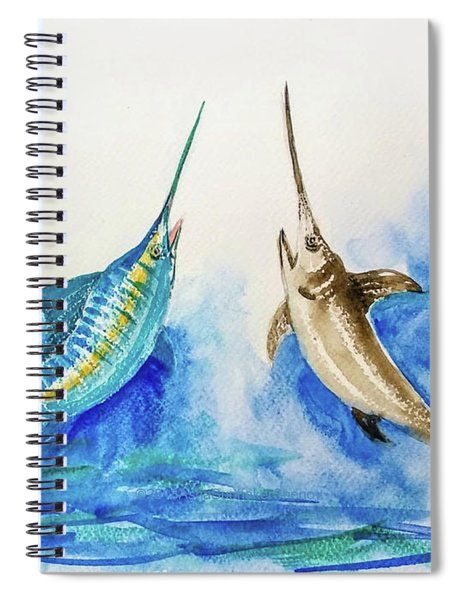 Marlin And Swordfish Pair One Spiral Notebook