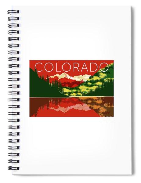 Maroon Bells Sunset Spiral Notebook