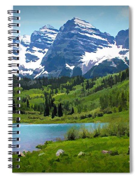 Maroon Bells - Watercolor Spiral Notebook