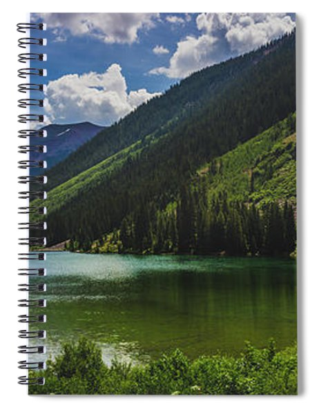 Maroon Lake Panorama Spiral Notebook