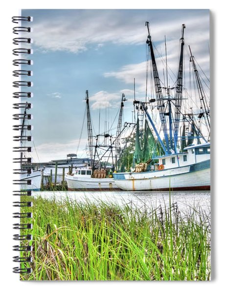 Marsh View Shrimp Boats Spiral Notebook