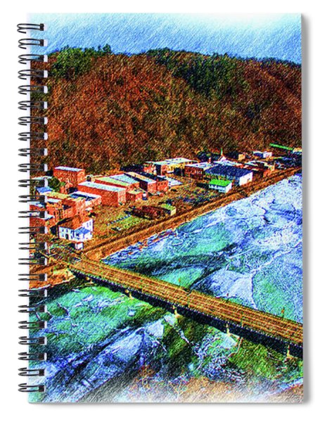 Marshall Nc On Ice Color Pencil Drawing Spiral Notebook