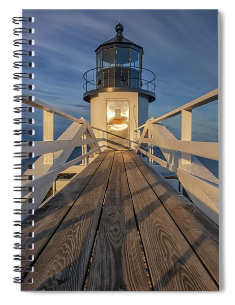 Marshall Point Lighthouse At Sunrise Spiral Notebook