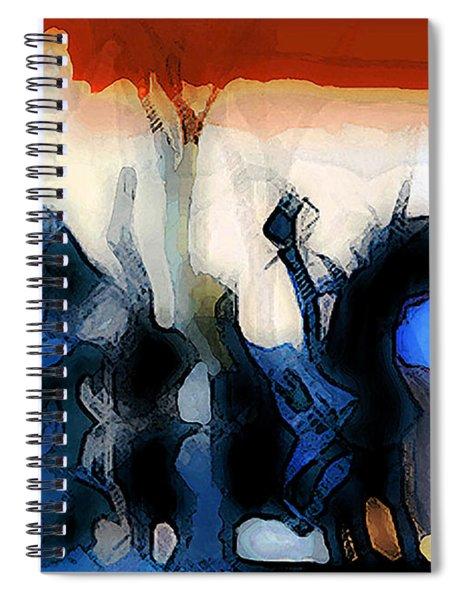 Martian Riding His Horse Spiral Notebook