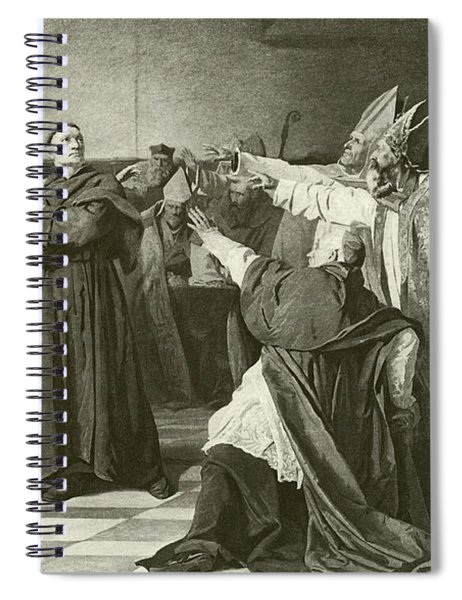 Martin Luther Before The Council Of Worms  Spiral Notebook