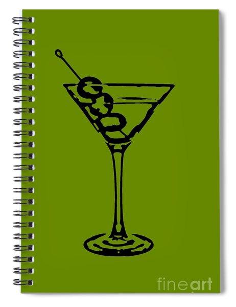 Martini Glass Tee Spiral Notebook