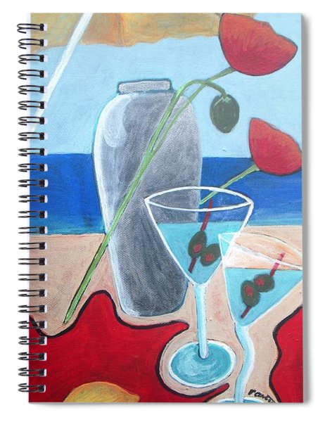 Martini On The Beach Spiral Notebook