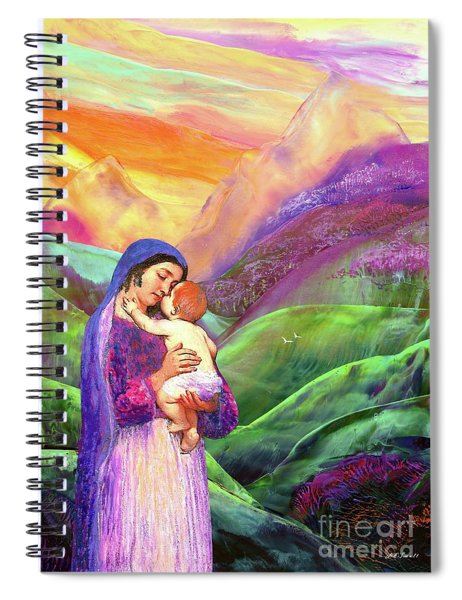 Mary And Baby Jesus Gift Of Love Spiral Notebook