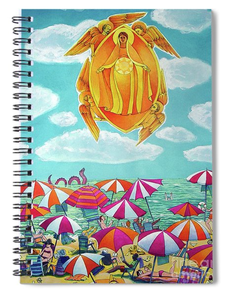 Mary, Assumption Over Bethany - Mmaob Spiral Notebook