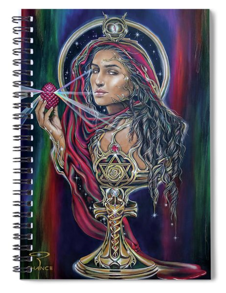Mary Magdalen - The Holy Grail Spiral Notebook