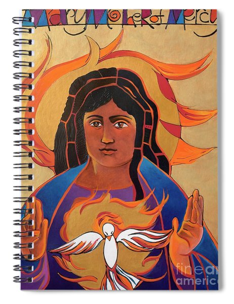 Mary Mother Of Mercy - Mmmmm Spiral Notebook
