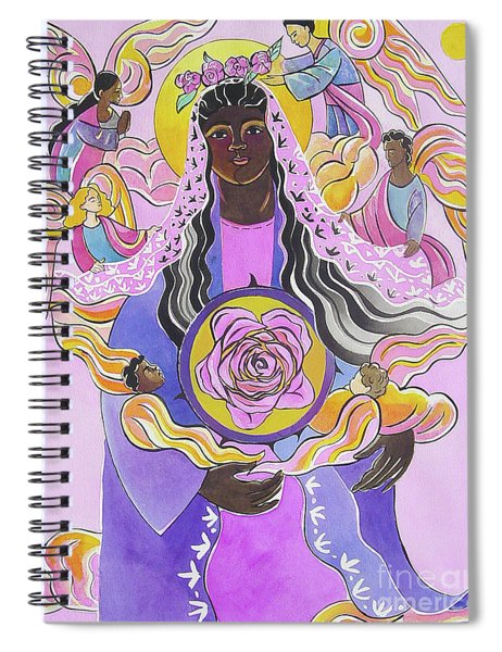 Mary, Mystical Rose - Mmmyr Spiral Notebook