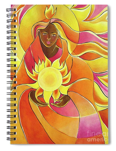 Mary, Our Lady Of Light - Mmmol Spiral Notebook