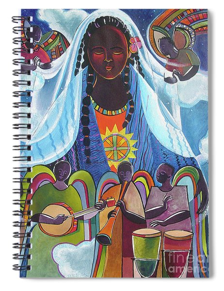 Mary, Queen Of The Angels - Mmqan Spiral Notebook