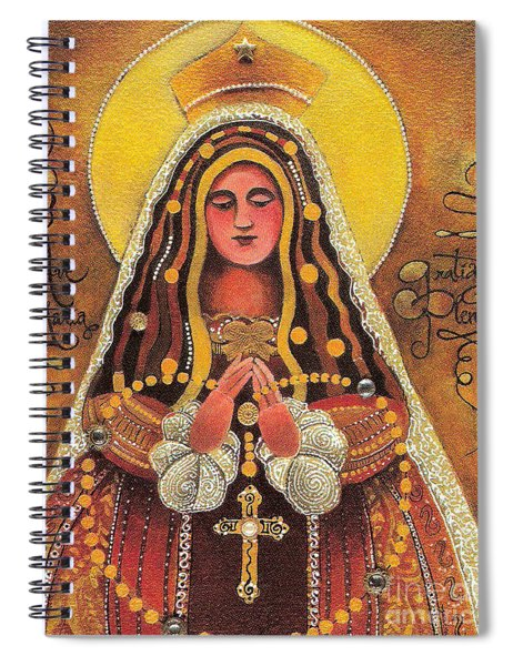 Mary, Queen Of The Rosary - Mmqor Spiral Notebook