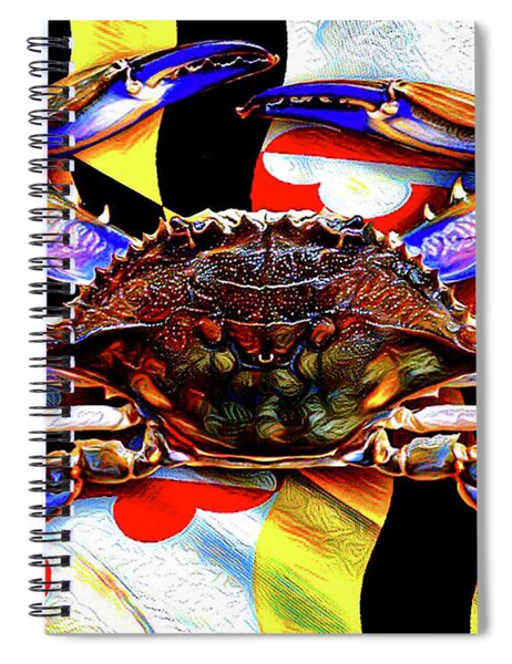 Maryland Blue Crab Spiral Notebook