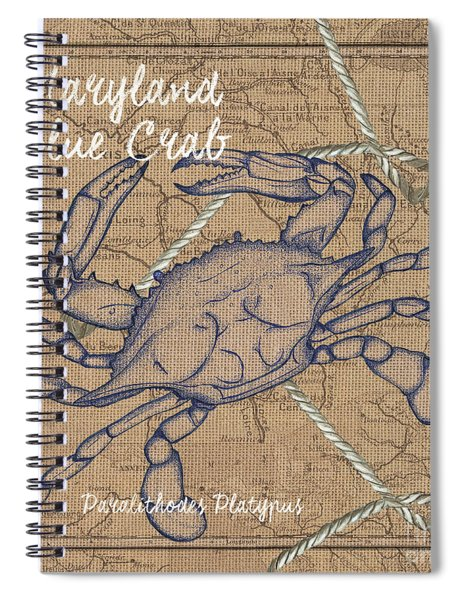 Maryland Blue Crab Spiral Notebook