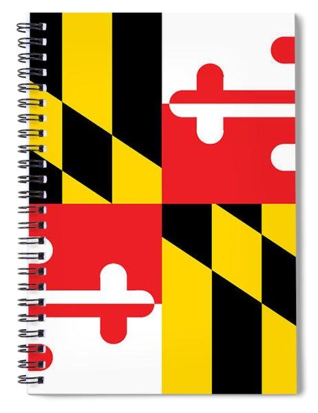 Maryland State Flag Spiral Notebook