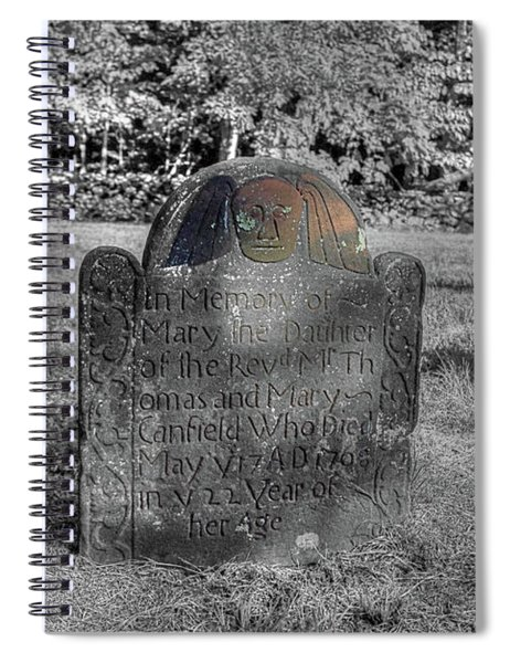 Mary's Death's Head Spiral Notebook