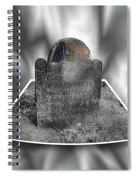Mary's Death's Head In 3d Spiral Notebook