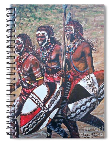 Blaa Kattproduksjoner       Masaai Warriors Spiral Notebook