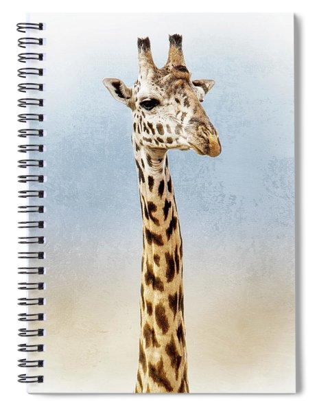 Masai Giraffe Closeup Square Spiral Notebook