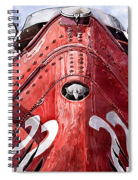 Maserati 250f Alien Spiral Notebook