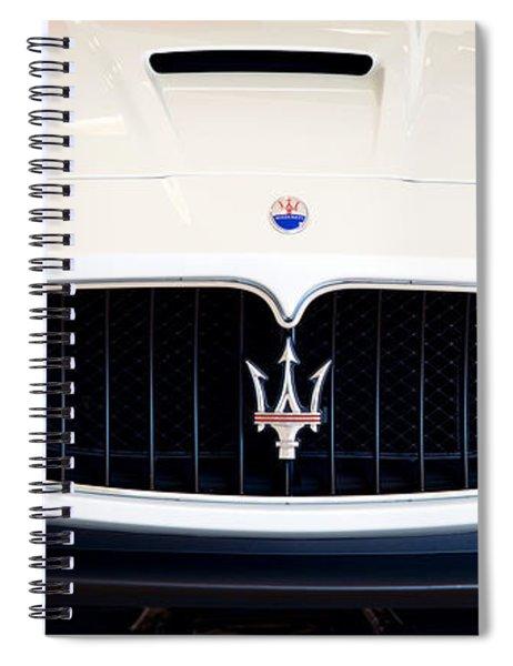 Maserati White Pano 121715 Spiral Notebook