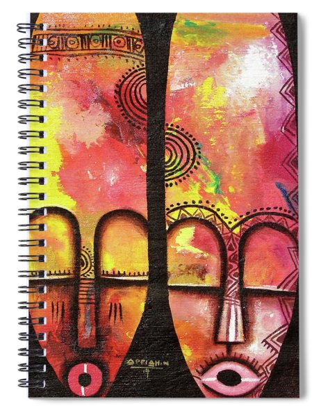 Mask 3 Spiral Notebook
