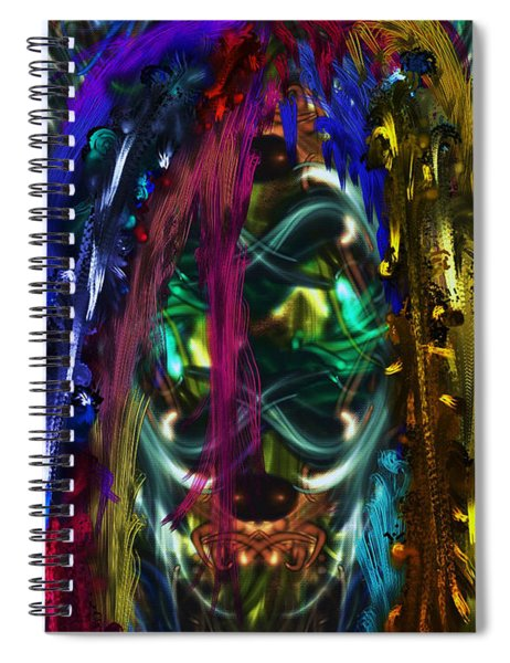Mask Of The Spirit Guide Spiral Notebook