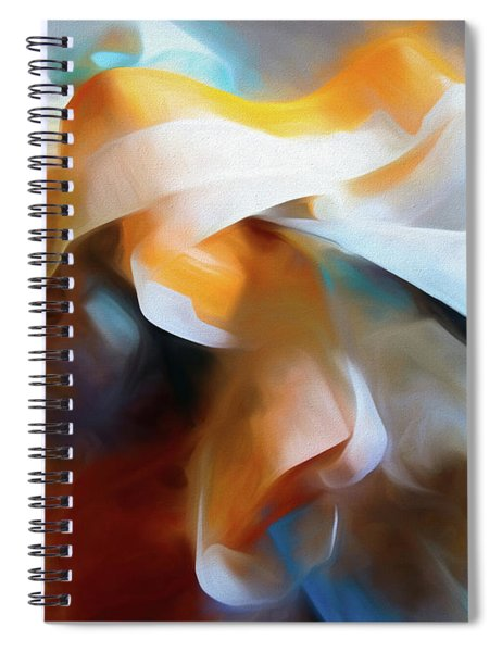 Masking Tape And Paint Composition Spiral Notebook