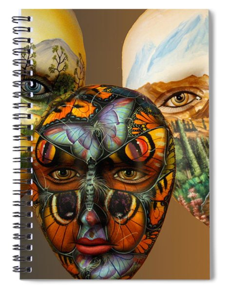 Masks On The Wall Spiral Notebook
