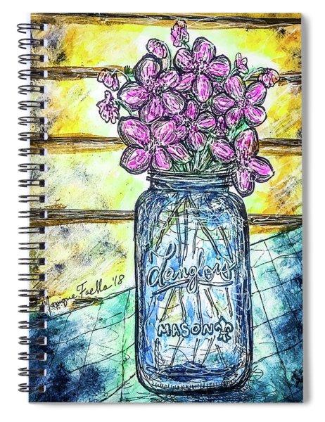 Mason Jar Bouquet Spiral Notebook