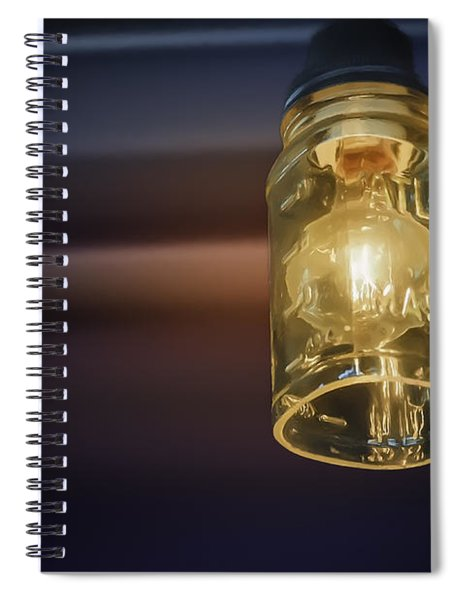 Mason Jar Light Spiral Notebook