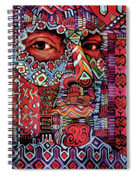 Masque Number 4 Spiral Notebook
