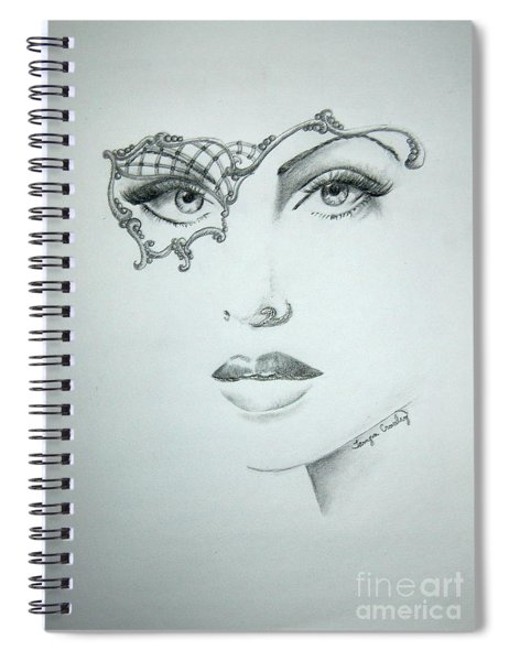 Masquerade Ball Spiral Notebook