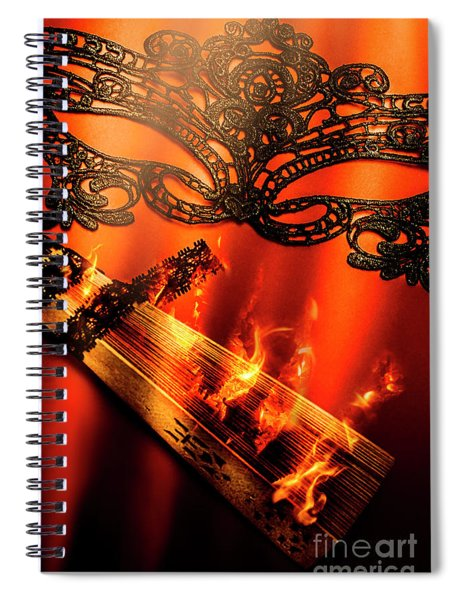 Masquerade Of Passion Spiral Notebook