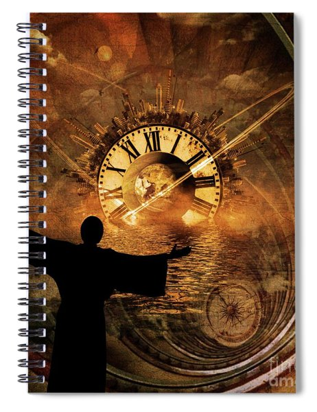 Master Of Time Spiral Notebook