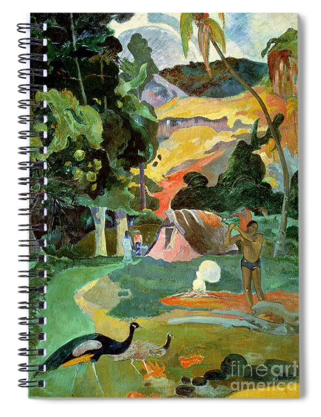 Matamoe Or Landscape With Peacocks Spiral Notebook