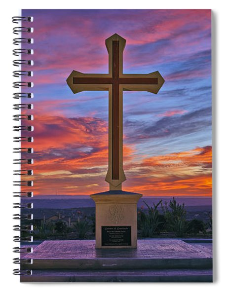Christian Cross And Amazing Sunset Spiral Notebook