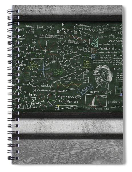 Maths Formula On Chalkboard Spiral Notebook