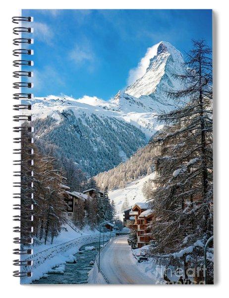 Spiral Notebook featuring the photograph Matterhorn  by Brian Jannsen