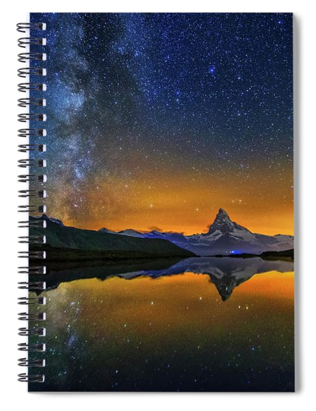 Matterhorn By Night Spiral Notebook