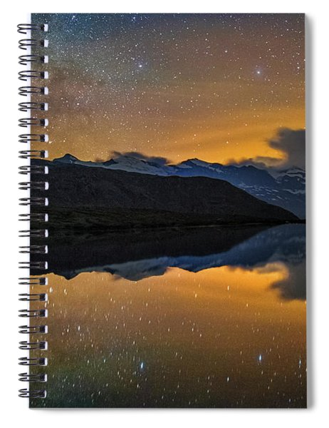 Matterhorn Milky Way Reflection Spiral Notebook