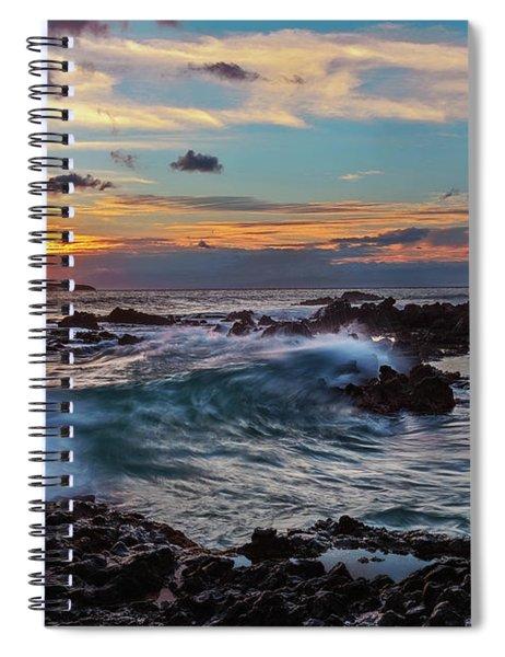 Maui Sunset At Secret Beach Spiral Notebook
